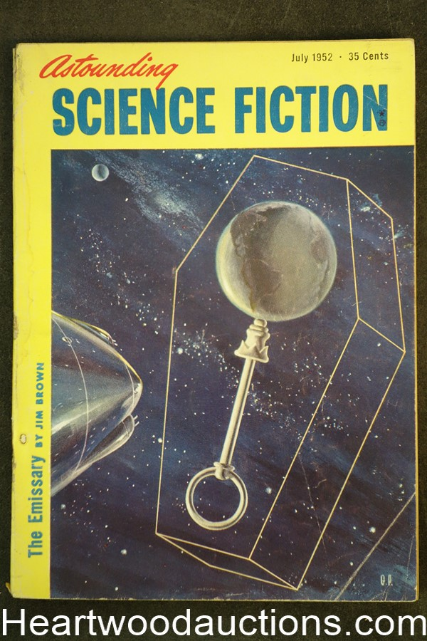 Astounding Science Fiction July 1952 Edd Cartier Art