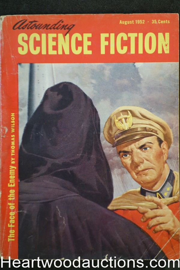 Astounding Science Fiction Aug 1952 Lester del Ray, Edd Cartier Art