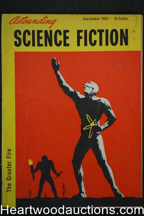 Astounding Science Fiction Sep 1952 Edd Cartier Art