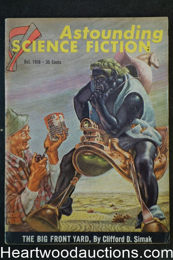 Astounding Science Fiction Oct 1958 Kelly Freas Cvr, Simak, Ash, Rog Phillips
