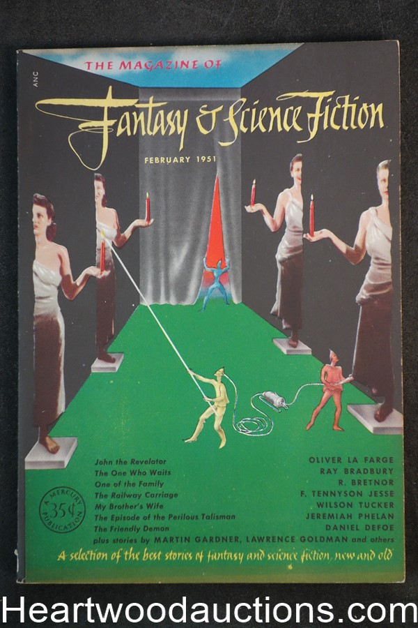 Fantasy and Science Fiction Feb 1951 Bradbury