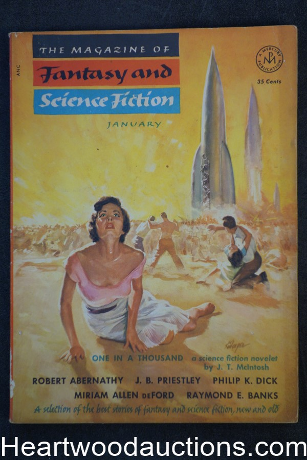 Fantasy and Science Fiction Jan 1954 Philip K. Dick, J.B. Preistley