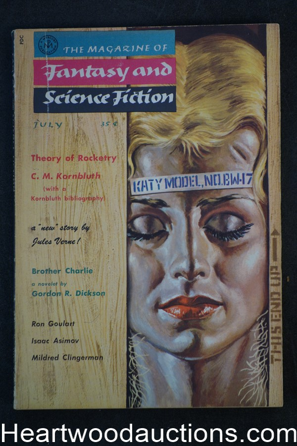 Fantasy and Science Fiction July 1958 Issac Asimov, Gordon Dickson