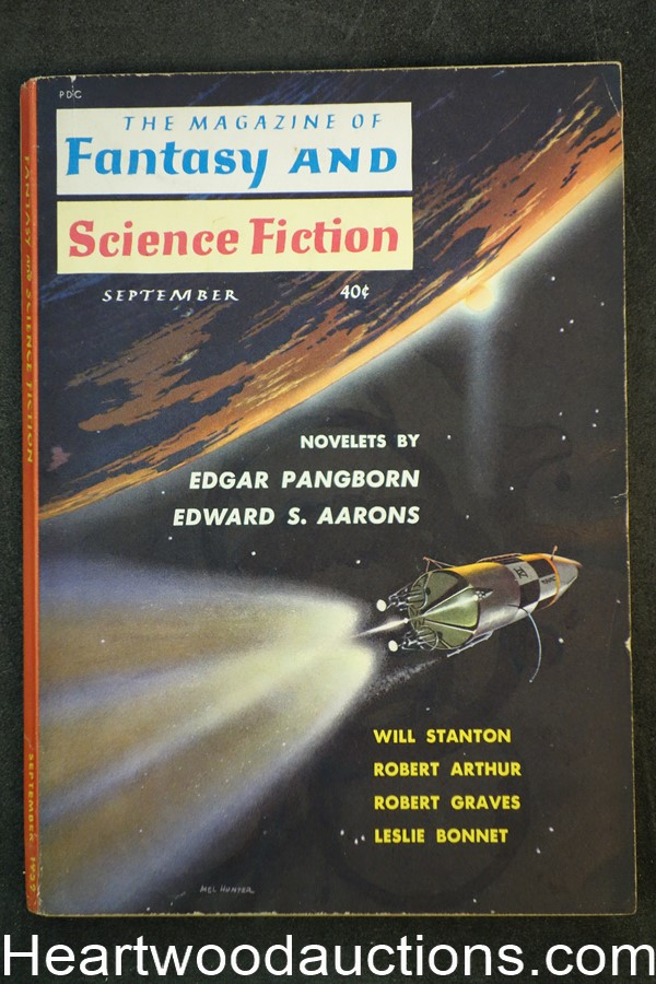 Fantasy and Science Fiction Sep 1959 1st Published sf by Joanna Russ, Asimov,