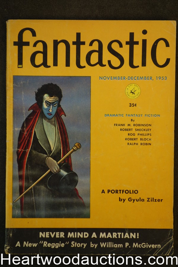 Fantastic Nov 1953 Emsh Art, Robert Bloch, Rog Phillips