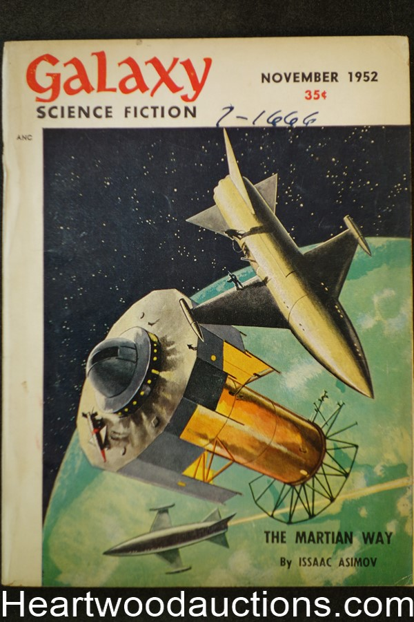 Galaxy Science Fiction Nov 1952 Asimov, Kornbluth, Sheckley