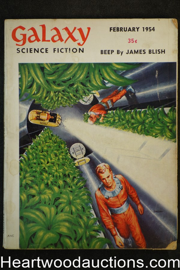 Galaxy Science Fiction Feb 1954 Emsh Cvr, Fredric Brown, james Blish