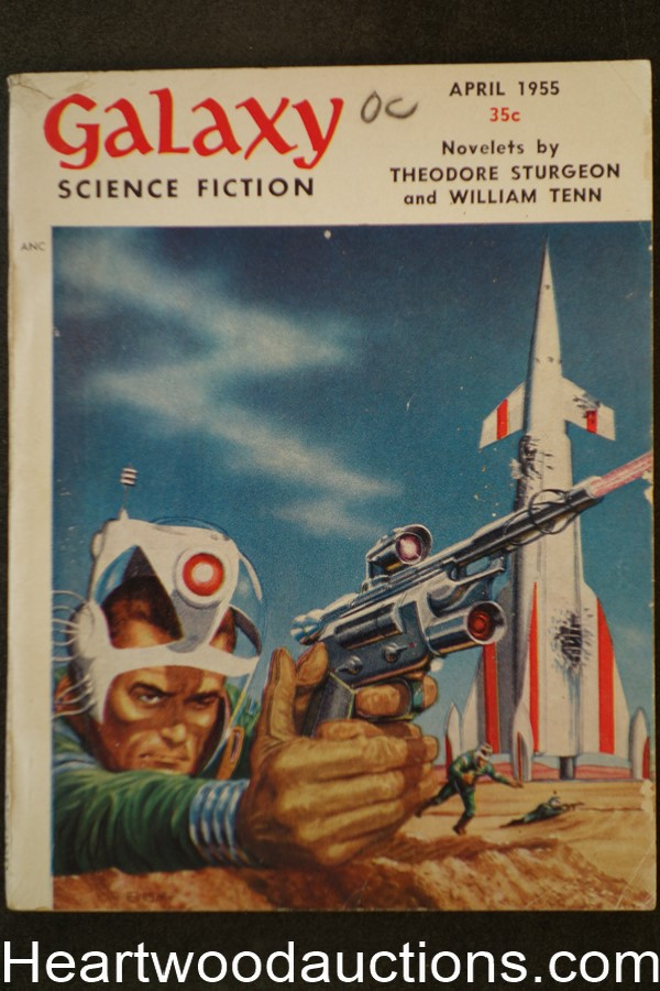 Galaxy Science Fiction Apr 1955 Emsh Cvr, Pohl, Sturgeon, Tenn, sheckley