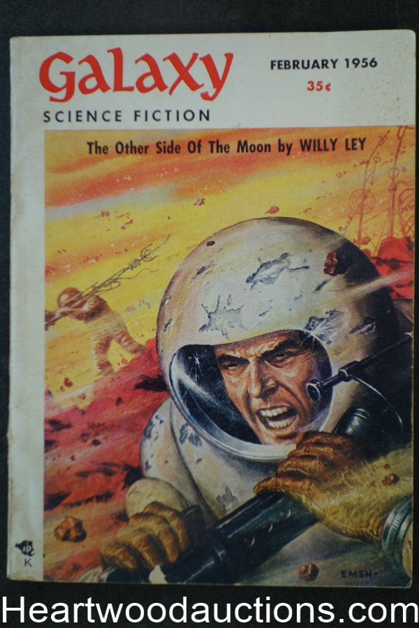 Galaxy Science Fiction Feb 1956 Emsh Cvr, Robert Bloch