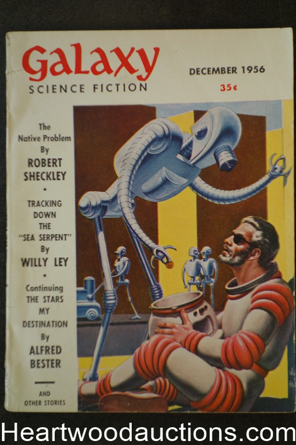Galaxy Science Fiction Dec 1956 Virgil Finlay Cvr, EC Tubb, Bester, Tenn