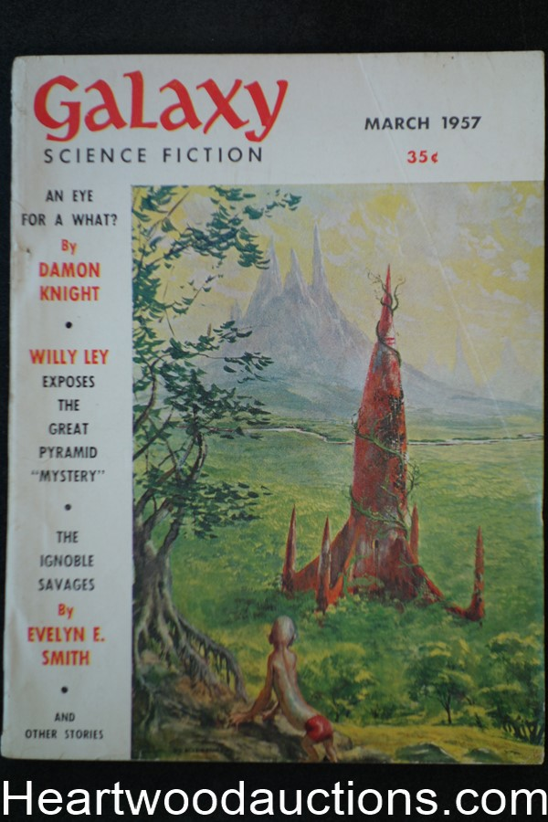 Galaxy Science Fiction Mar 1957 Poul Anderson. Damon Knight, Sturgeon