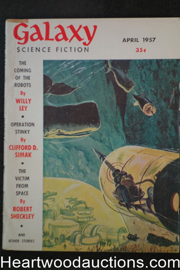 Galaxy Science Fiction Apr 1957 1st published sf by Walter S. Tevis, Jr.