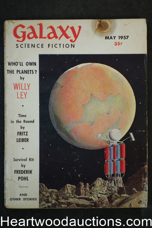 Galaxy Science Fiction May 1957 Frederik Pohl, Leiber, Simak, Sheckley