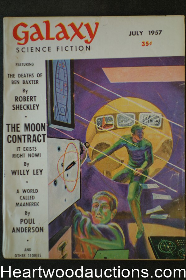 Galaxy Science Fiction July 1957 Poul Anderson; Avram Davidson, Sheckley