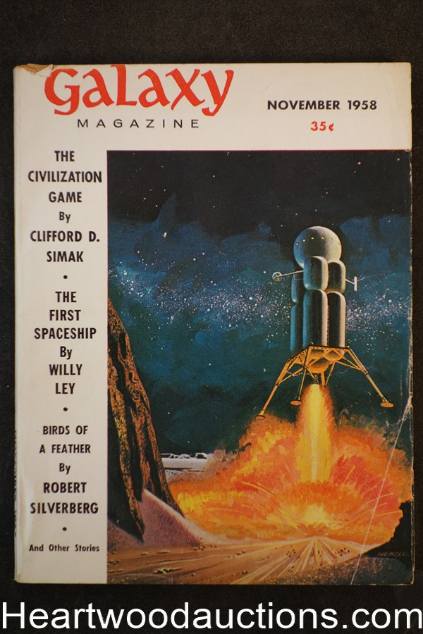 Galaxy Science Fiction Nov 1958 Wenzel Cvr Robert Silverberg, Simak