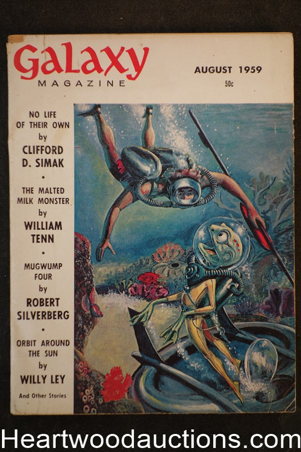 Galaxy Science Fiction Aug 1959 Wally Wood Cvr, Silverberg, Pohl, Simak