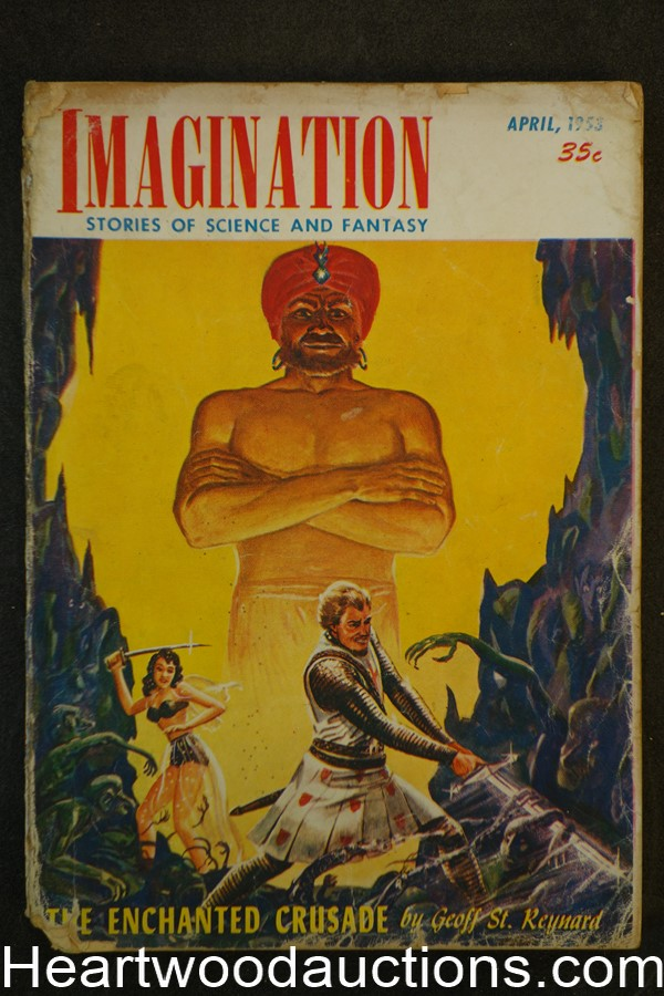 Imagination Apr 1953 Rog Phillips, H.W. McCauley Art