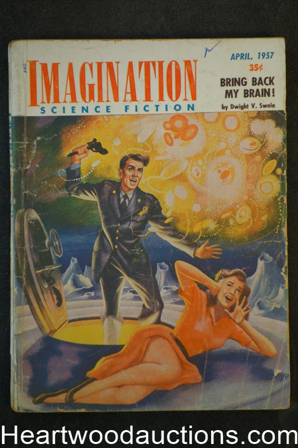 Imagination Apr 1957 Silverberg, Swain, Tenneshaw, RM Williams