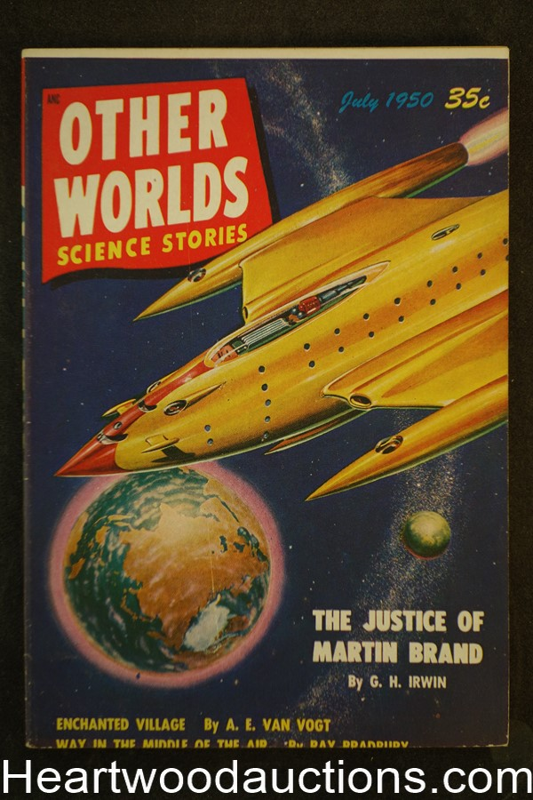 Other Worlds Jul 1950 Bradbury, Van Vogt, Ackerman
