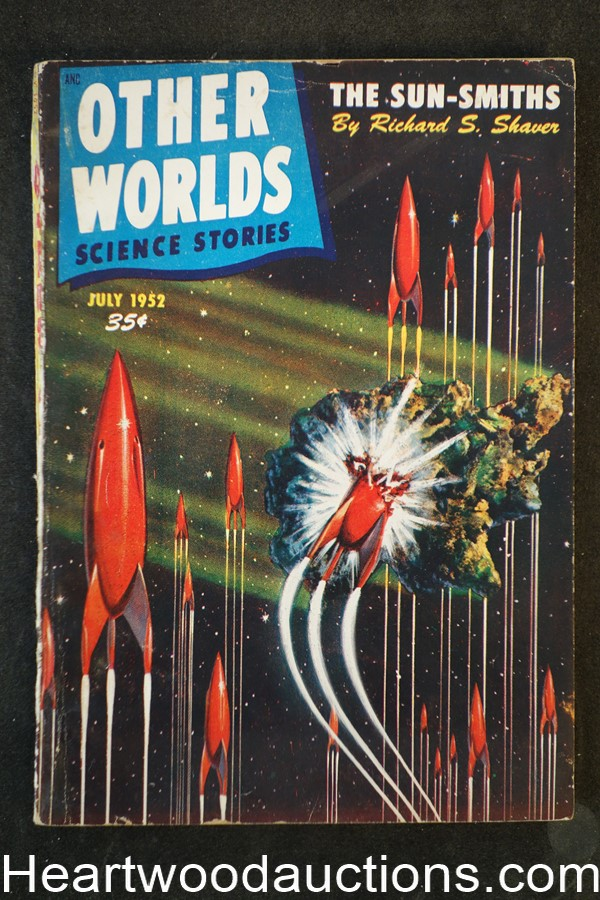 Other Worlds July 1952 L. Sprague de Camp, Malcolm Smith Cvr
