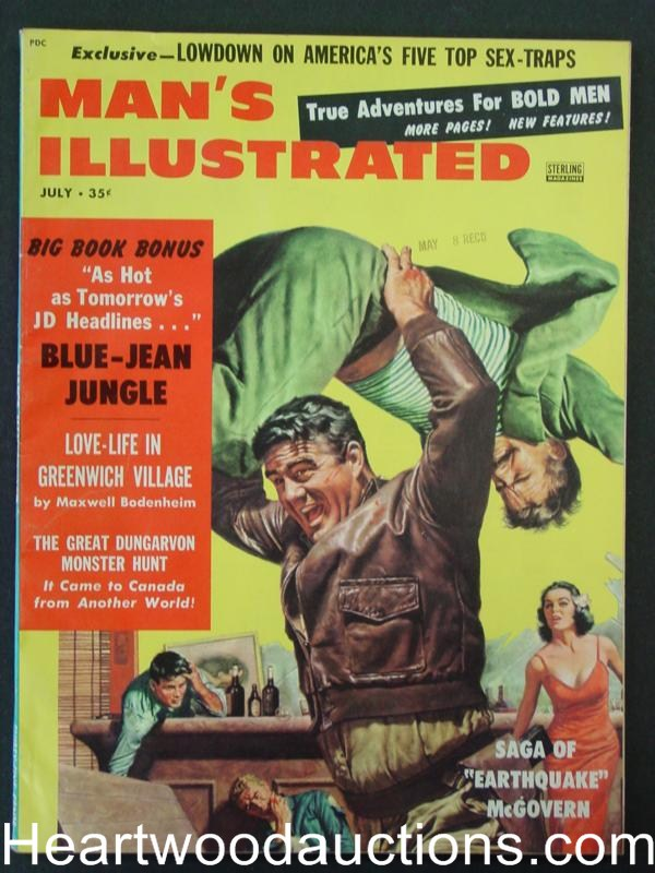 Man's Illustrated July 1958  J.D. Story - High Grade