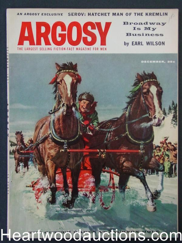 Argosy Dec 1957 Horse Carriage Races at Jackson Hole