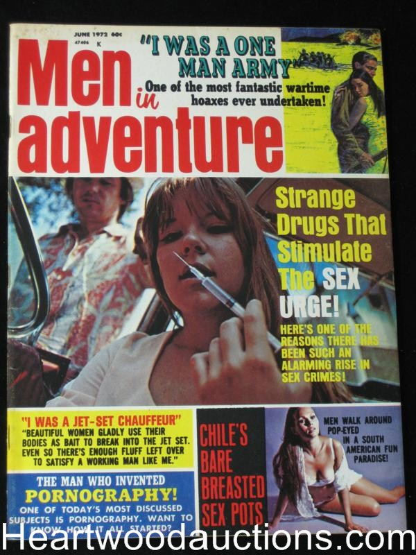 Men in Adventure June 1972 File Copy Hypodermic CVR