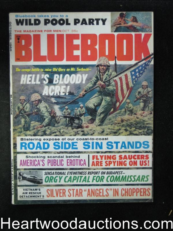 Blue Book Oct 1965 Iwo Jima Cover