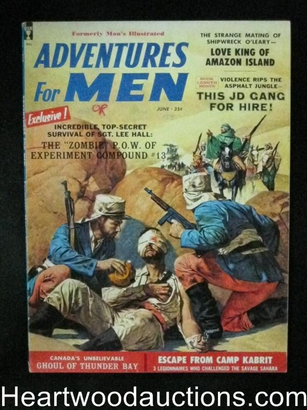Adventure for Men Jun 1959 French Foreign Legion Cover, Juvenile Delinquent gang story