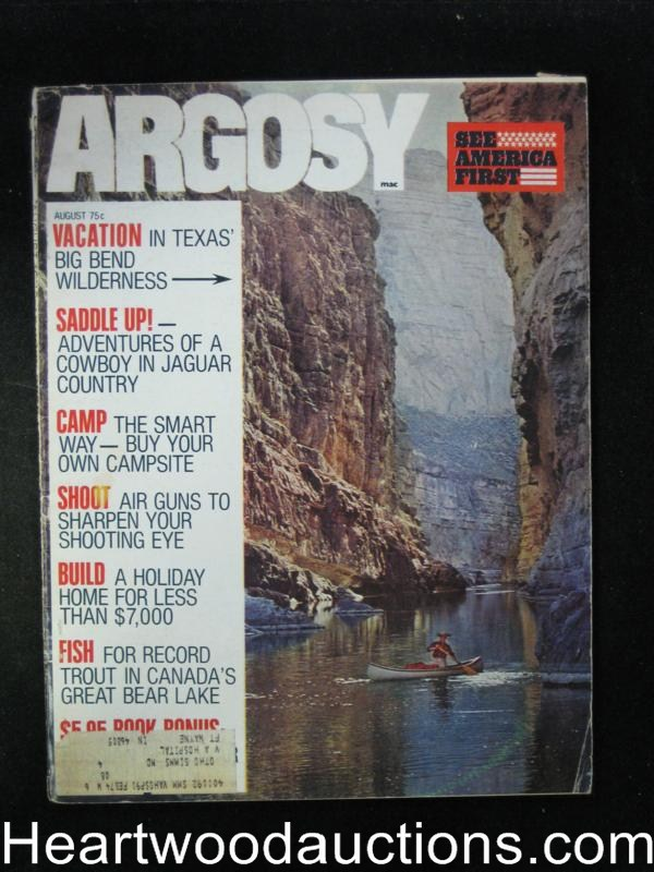 Argosy Aug 1972 The Apache Thunder God
