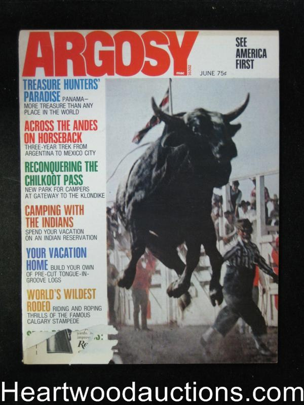 Argosy Jun 1972 Wild Rodeo Cover