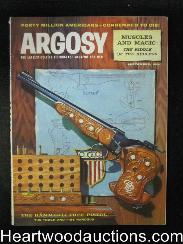 Argosy Sep 1957 1st app. Robert Bloch