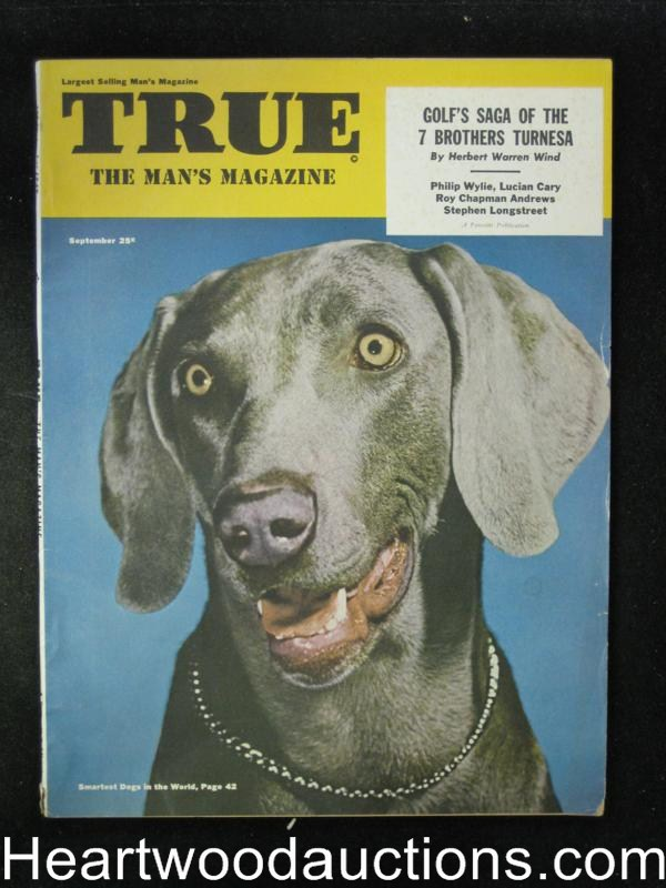 True Sep 1949 Weimaraner Cover