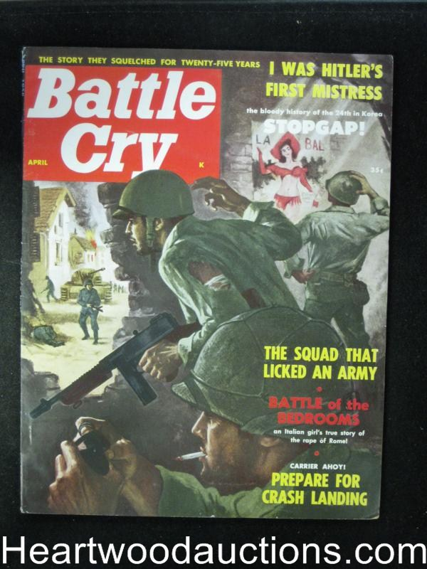 Battle Cry Apr 1958 Tommy Gun,Anita London