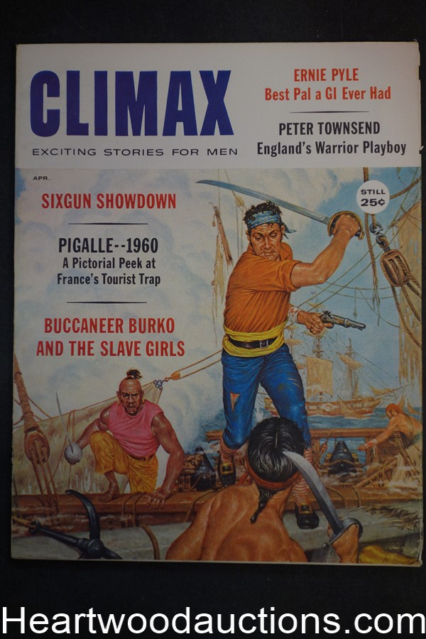 Climax Apr 1960 Norm Saunders, Herb Mott,, Ernie Pyle, Peter Townsend - High Grade- NAPA