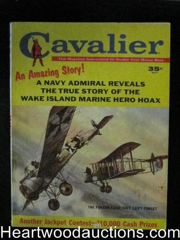 Cavalier May 1961 Biplane Cover/ Baseball/Sharks/Antique Cars