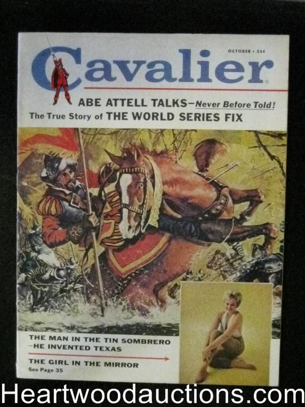 Cavalier Oct 1961 Baseball World Series Fix,Mob /Eliot Ness Story
