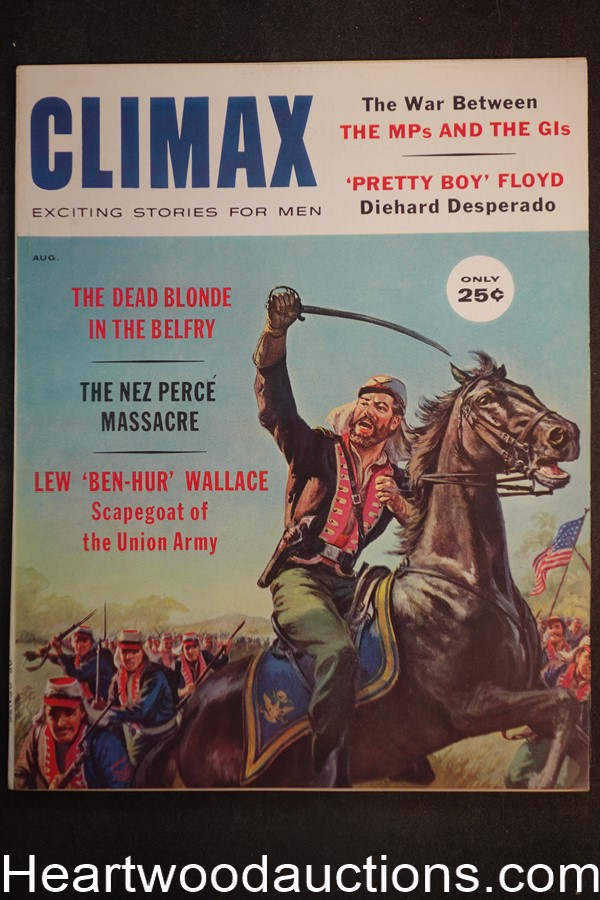 Climax Aug 1960 Pretty Boy Floyd, Saunders Cover - Ultra High Grade- NAPA