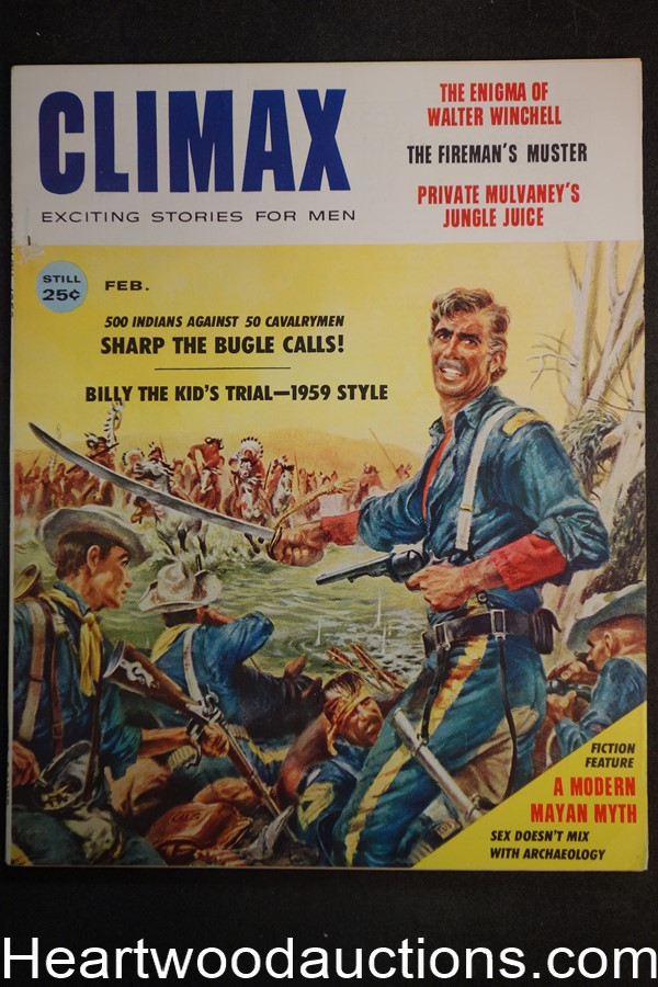 Climax Feb 1959 Billy the Kid, Norman Saunders Art, Walter Winchell - High Grade- NAPA