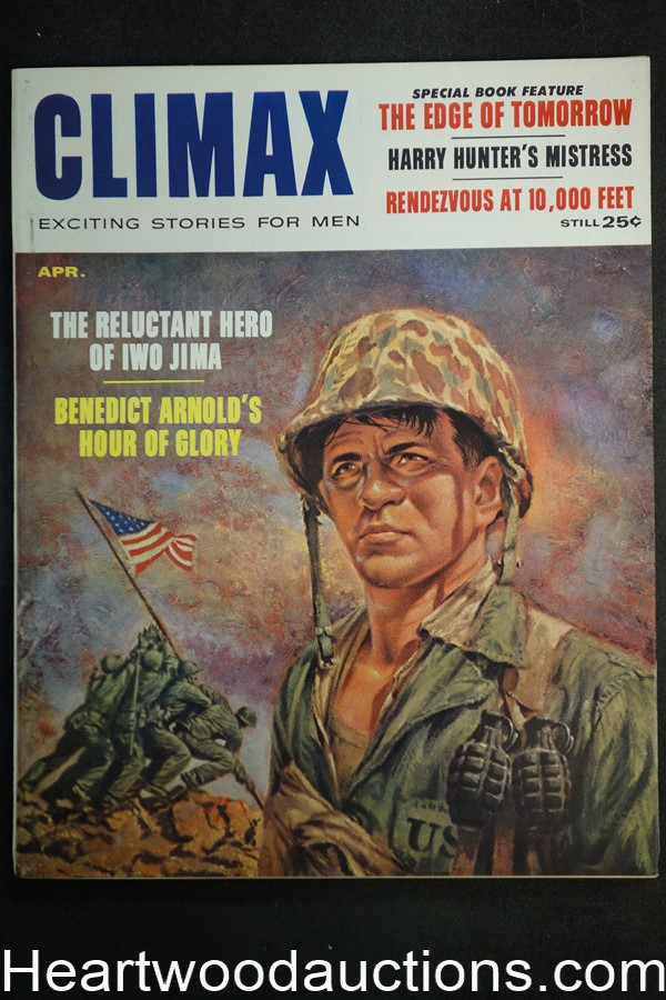Climax Apr 1959 Iwo Jima Cover / Robin Rouse - Ultra High Grade- NAPA