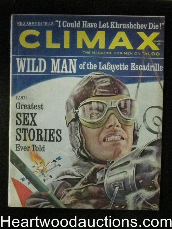 Climax Mar 1963 Anthony Quinn,Biplane Cover