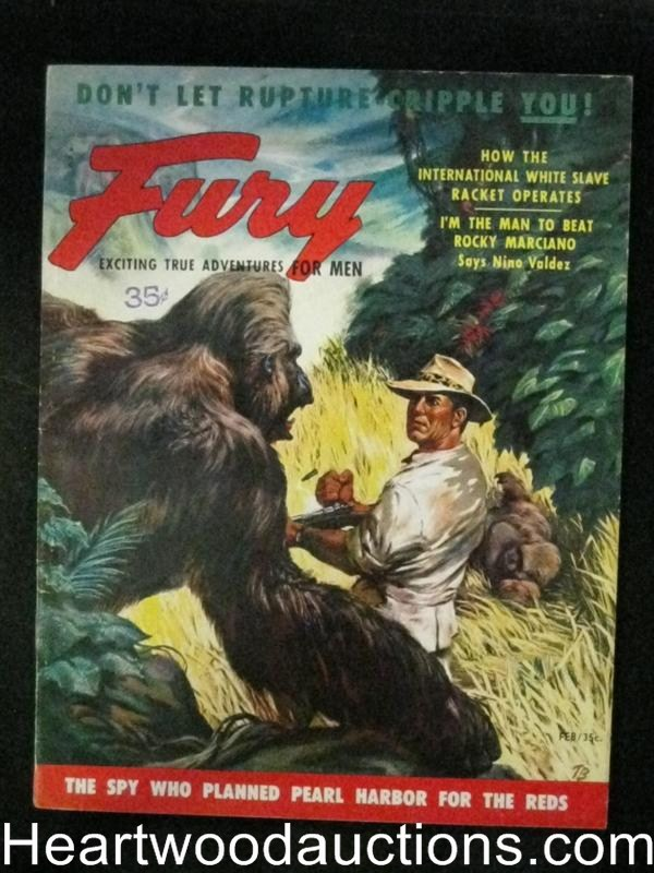 Fury Feb 1955 Gorilla Attack Cover