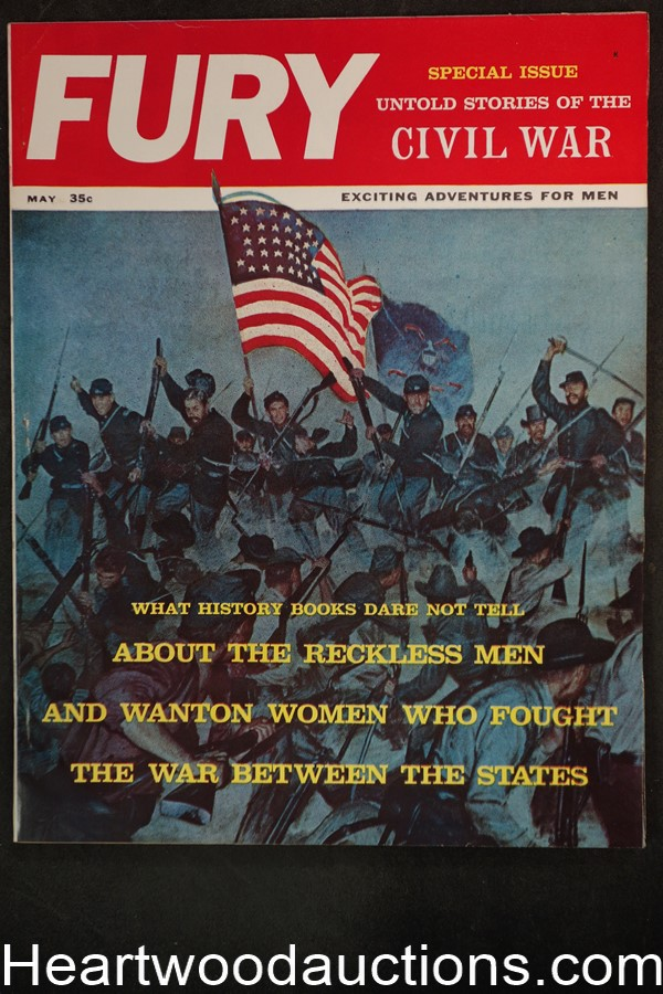 Fury May 1961 Special Civil War Issue, Patti Winters, Murder of Abraham Lincoln - Ultra High Grade- NAPA