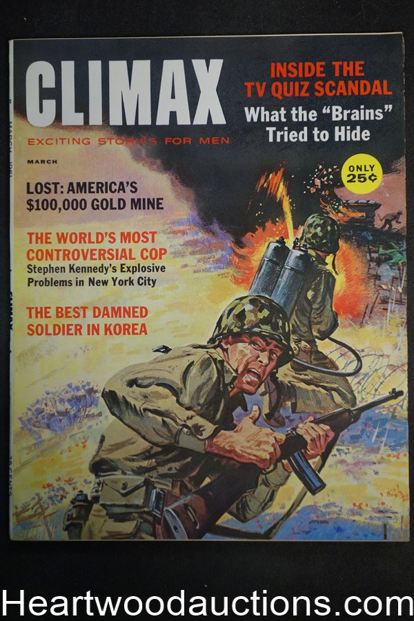 Climax Mar 1961  NYC Police Commisioner - Stephen Kennedy,  Jay Scott Pike - Ultra High Grade- NAPA