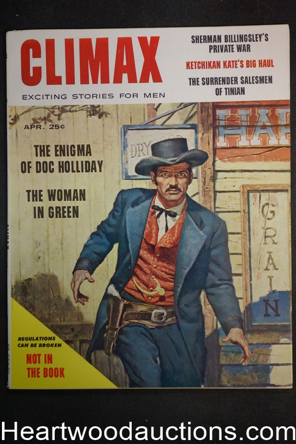 Climax Apr 1958 Doc Holliday / Phyliss Ursin - High Grade- NAPA