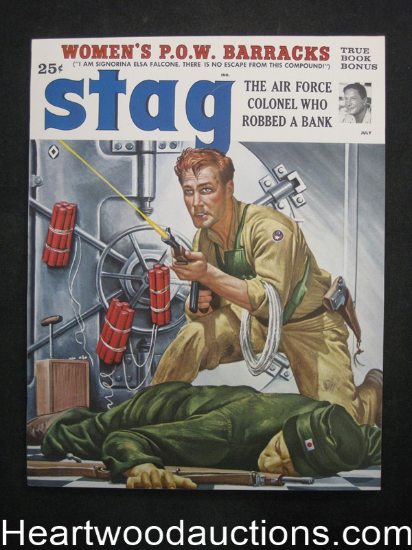 Stag Jul 1959 Mort Kunstler Cvr, James Bama, Rudy Nappi,  - Ultra High Grade- NAPA