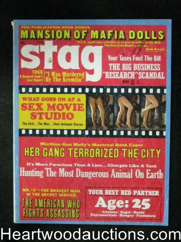 Stag Jan 1970 Machine Gun Molly, Mansion of Mafia Dolls