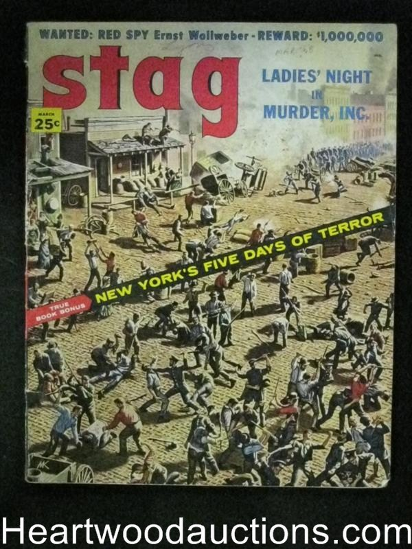 Stag Mar 1958 Kunstler Cover, Harry Harrison