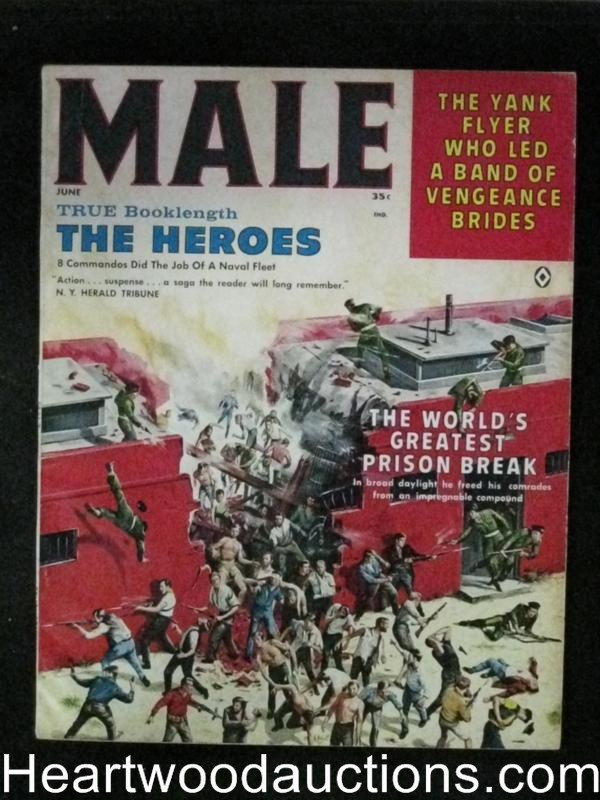 Male Jun 1961 Jim Bama Male Bondage, Bruce Minney Cover