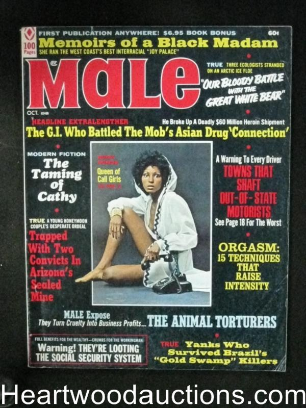 Male Oct 1972 Queen of the Call Girls Cover
